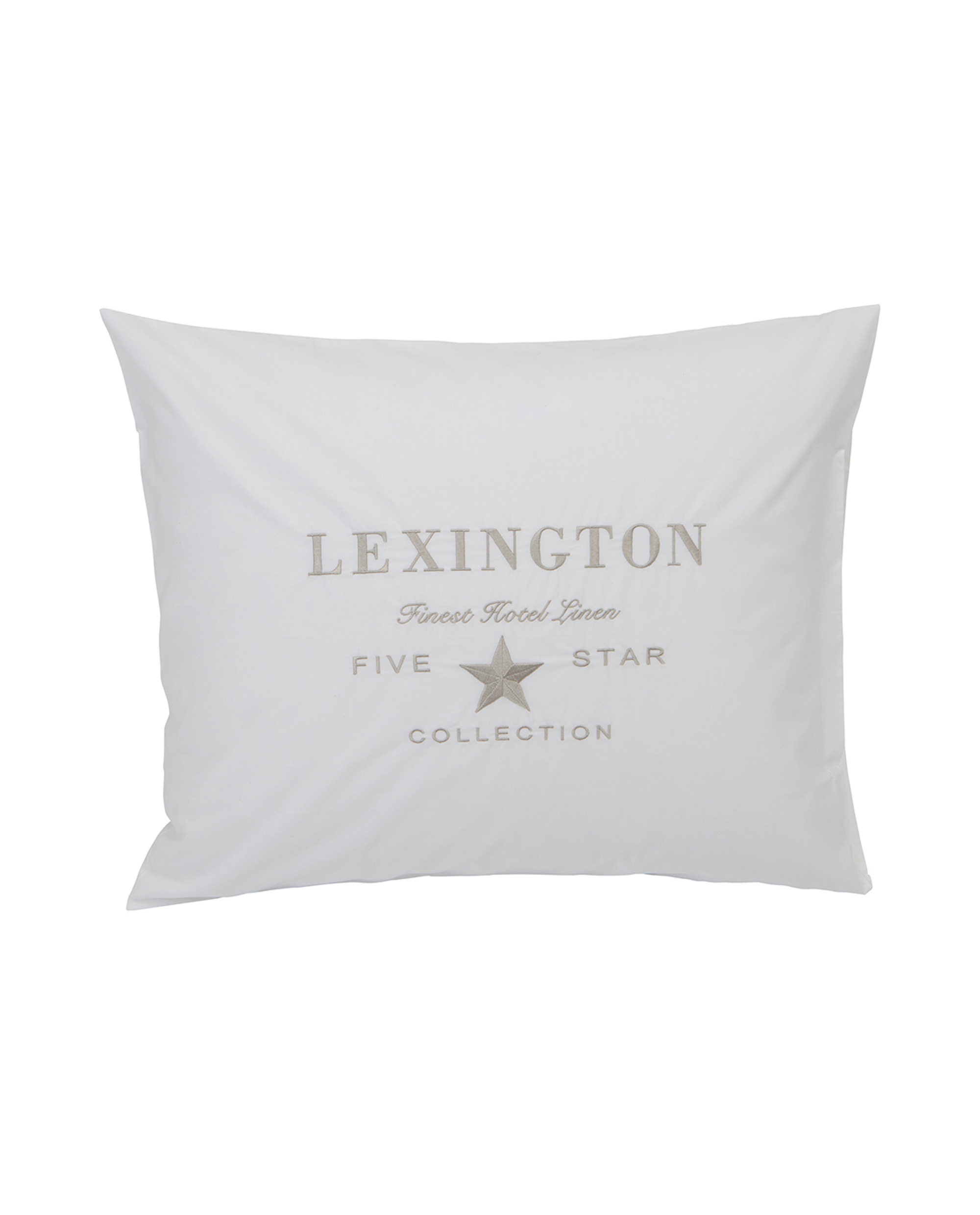 Bettwäsche 260x240 Hotel Embroidery White Lt Beige Pillowcase