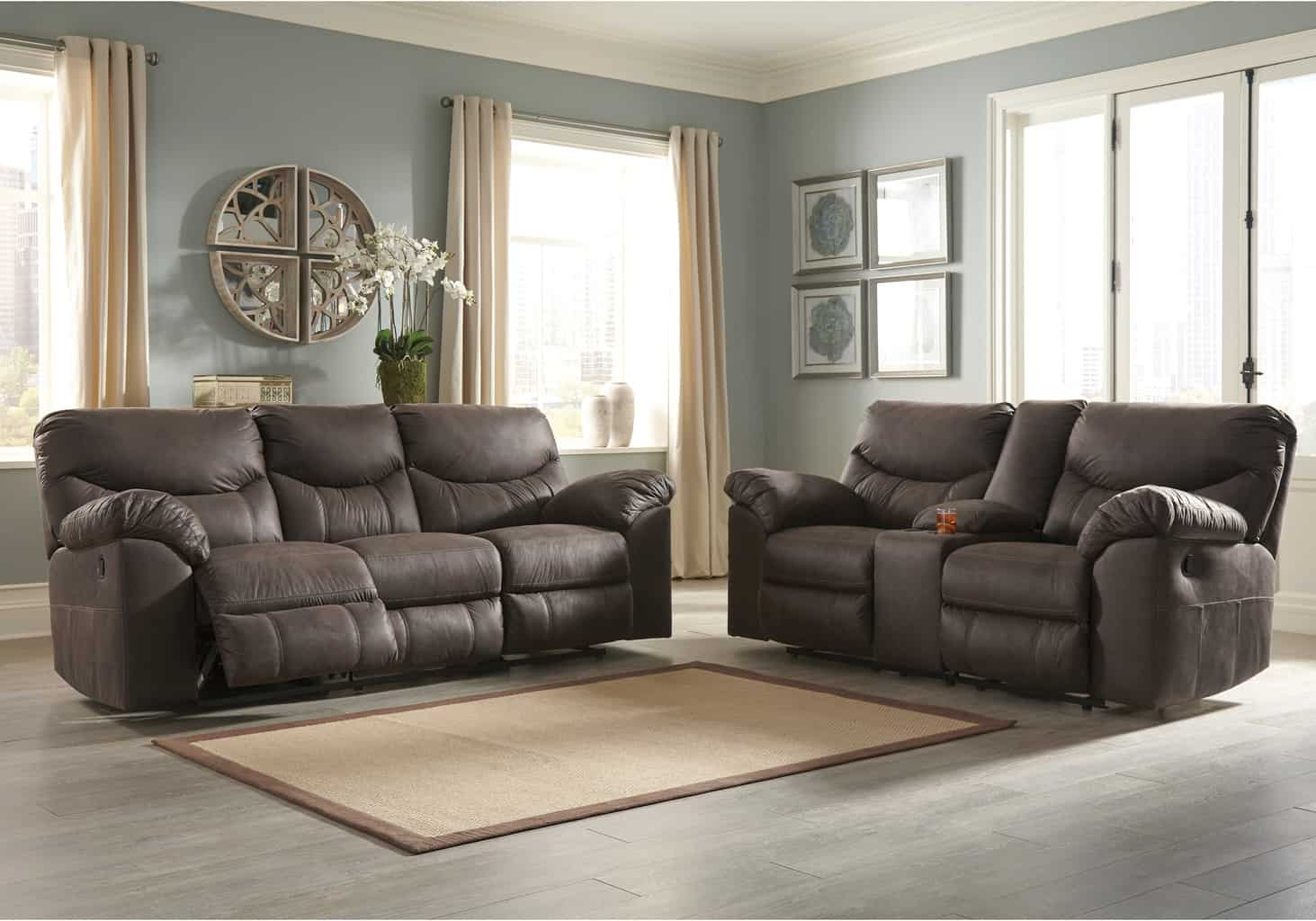 Sofa Set On Sale Boxberg Teak Power Reclining Sofa Set