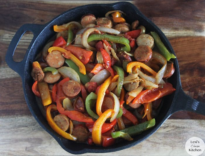 Paleo Italian Sausage, Peppers, and Onions