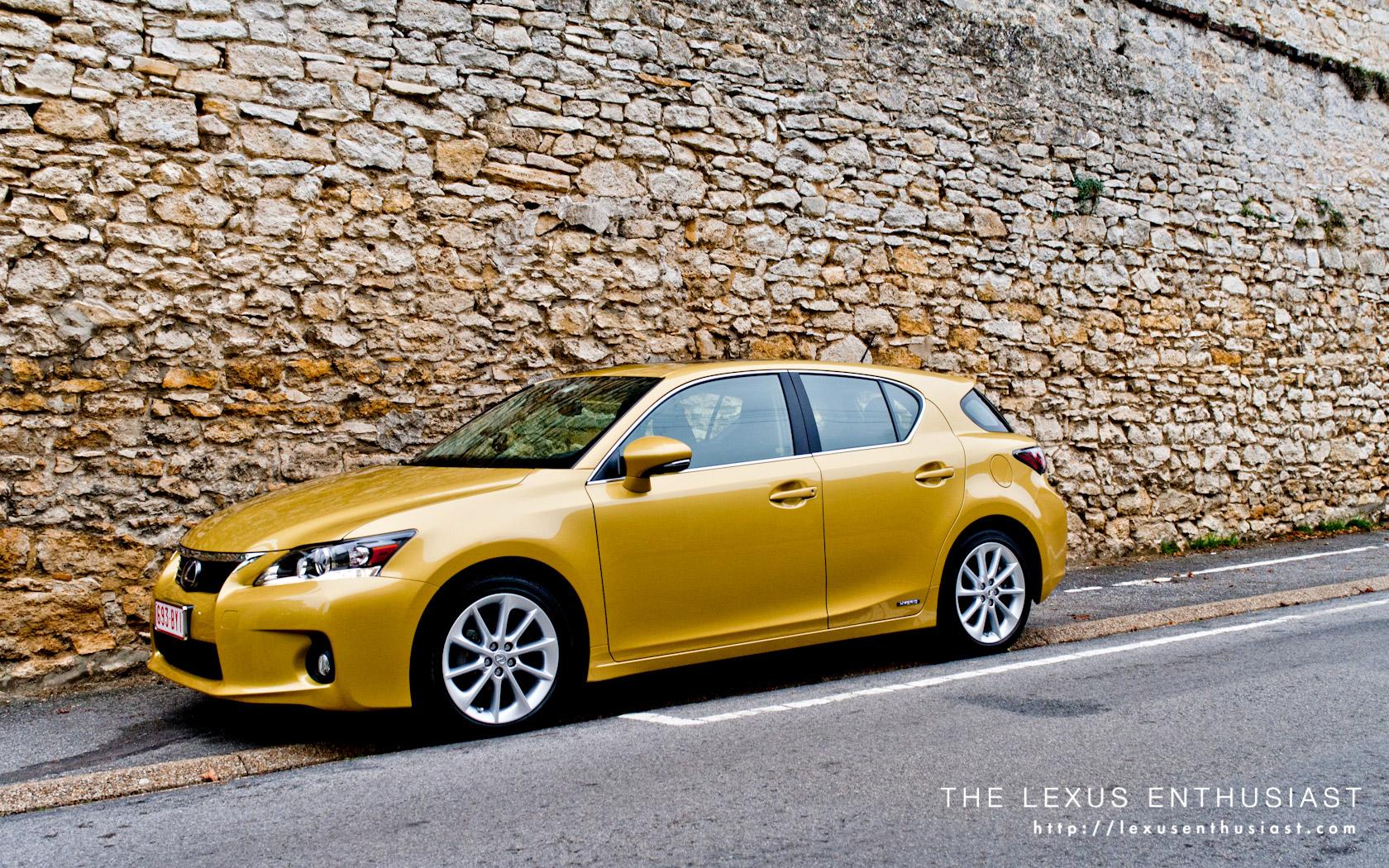 Car Slideshow Wallpaper Lexus Ct 200h In Daybreak Yellow Lexus Enthusiast