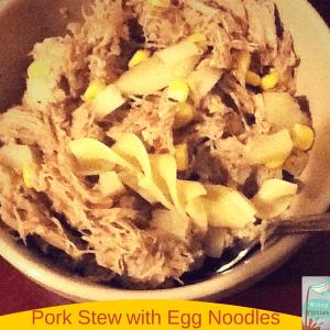 pork stew egg noodles