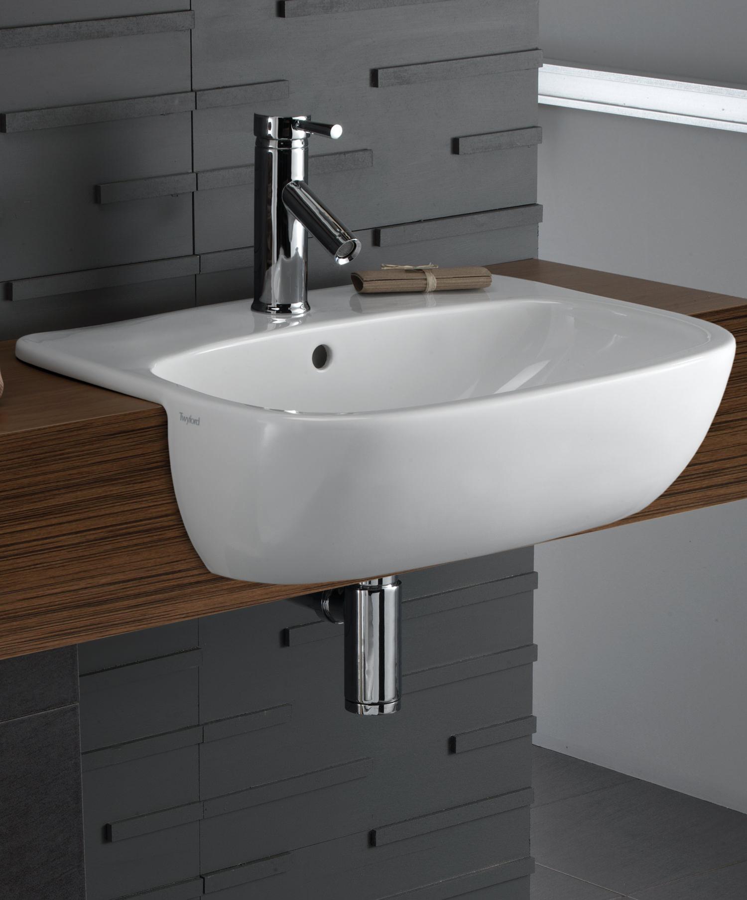 Twyford Moda 550mm Semi Recessed Basin