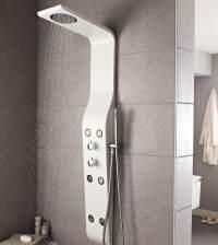 Hudson Reed Glacier White Thermostatic Shower Panel