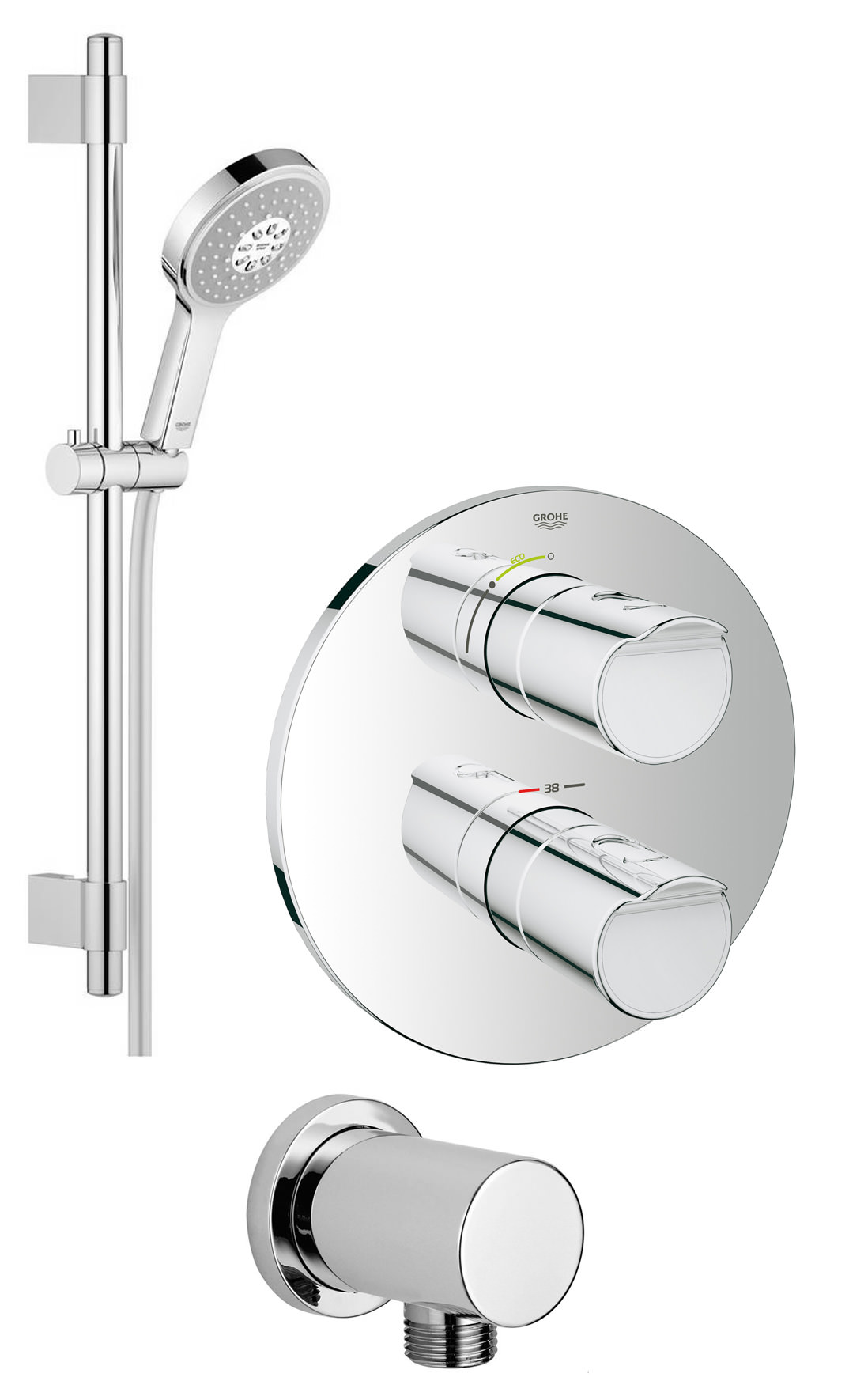 Grohe 2000 Grohe Grohtherm 2000 New Plus Power And Soul Shower Solution Pack 1