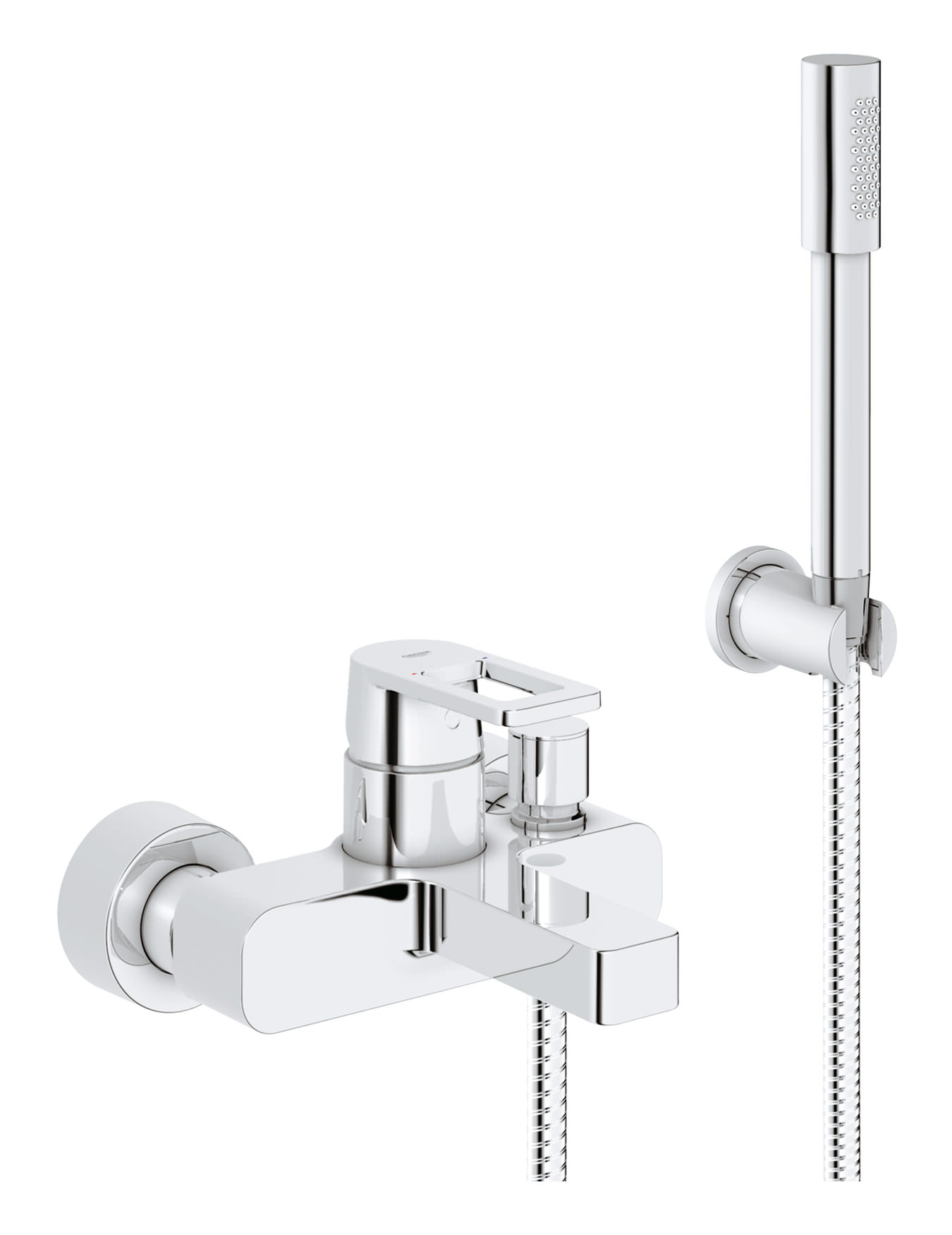 Grohe Badkamer Accessoires Set Grohe Quadra Wall Mounted Bath Shower Mixer Tap With