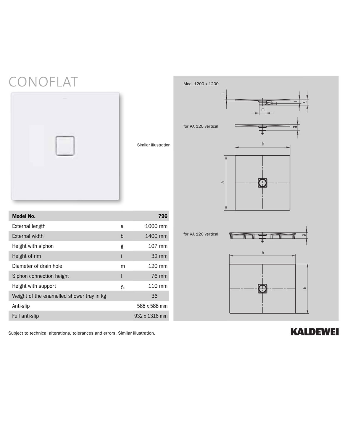 Duschtasse Conoflat Kaldewei Avantgarde Conoflat 1400 X 1000mm Steel Shower Tray