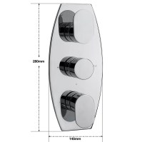 Sagittarius Metro Concealed Thermostatic Valve With 3 Way ...