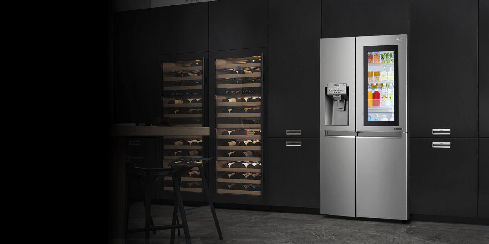 Inbouw Koelkast Diepvries Combinatie Find Spacious & Innovatively Designed Fridge Freezers | Lg
