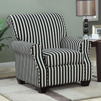 Black and White Stripe Accent Chair Coaster Furniture ...