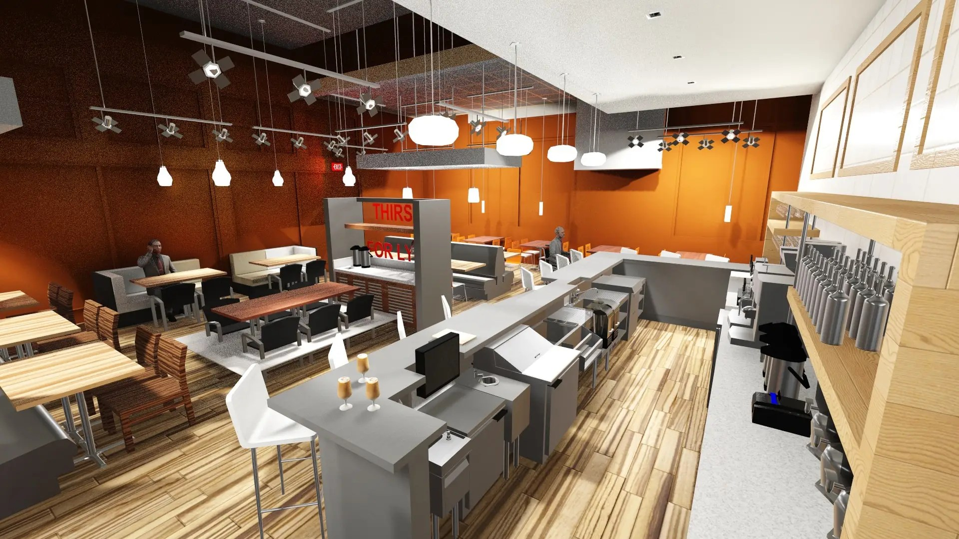 Commercial Kitchen 3d Design 3d Commercial Kitchen Layout Lgm Design Group