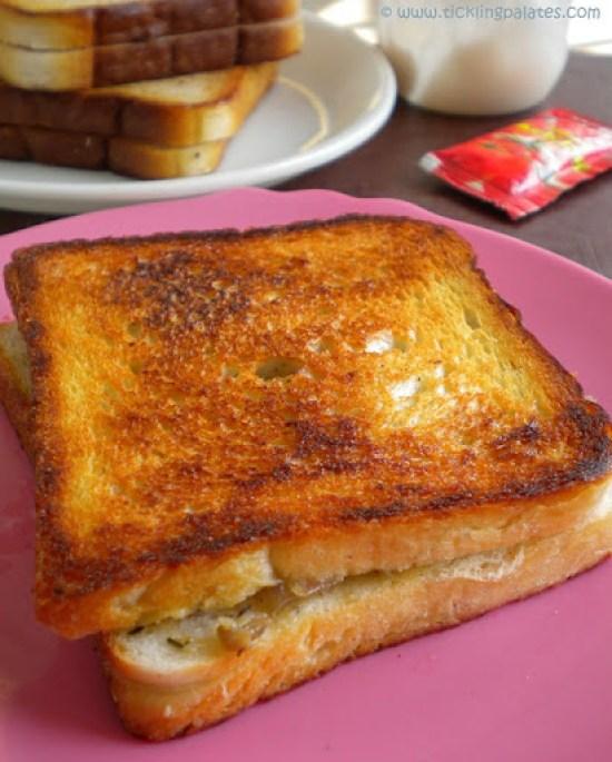 Grilled Cheese N Mushroom Sandwich