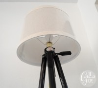 DIY Vintage Tripod Lamp - The Gathered Home