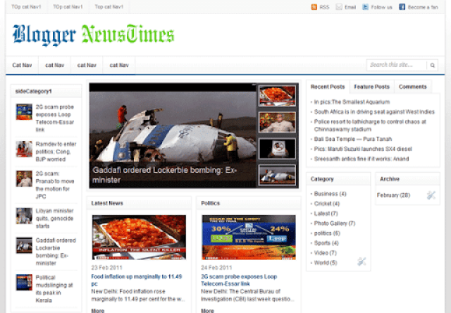 Blogger NewsTimes–AdSense optimized Premium Blogger Template