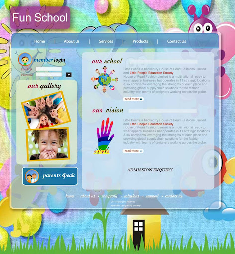 School Template Free Download Play Website Templates u2013