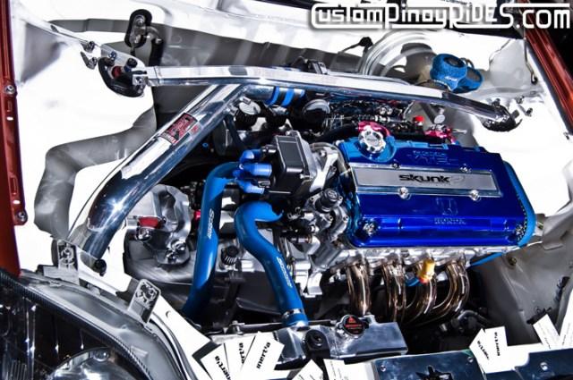 Best Engine Display at the 2011 Manila Auto Salon: 2000 Honda Civic SiR by Auto Circuit ...