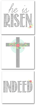 Such the Spot - He is Risen Indeed Free Easter Printable