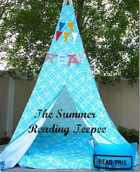 summer reading teepee
