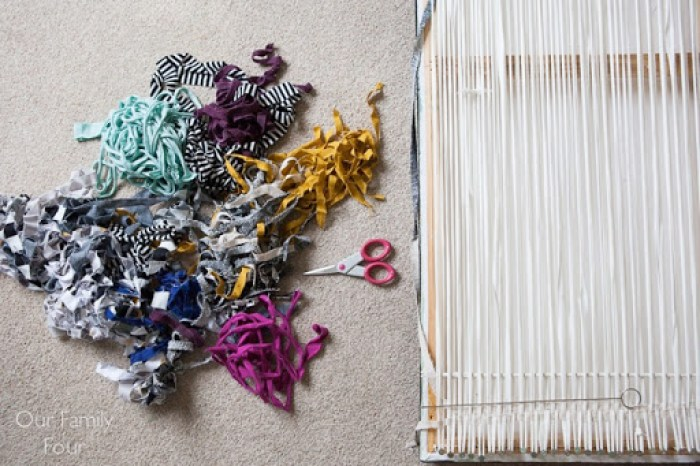 Woven Fabric Scrap Wall Art 6