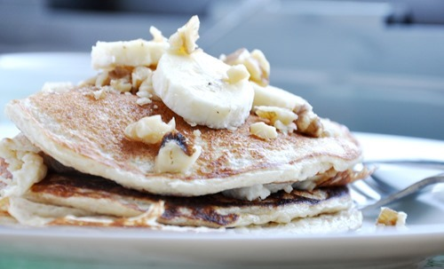 banana bread protein pancakes 024