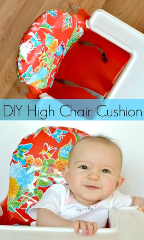 High Chair Cushion DIY