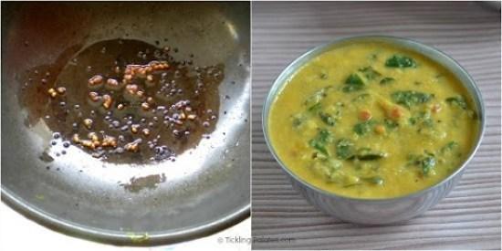 How to make Murungai keerai Poricha Kootu