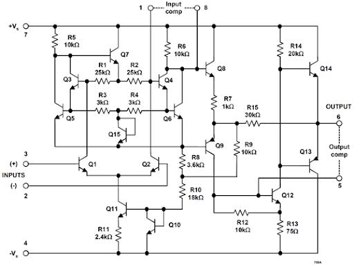 ua709 operational amplifier fairchild 1965