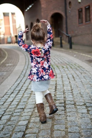 Pretty in Peplum Dress at Our Family Four 10