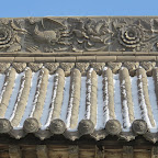 recently repaired part of the roof of a flanking hall in ever-peaceful monastery.JPG