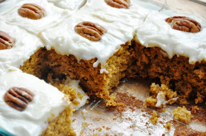 pumpkin cake bars reduced-fat 103