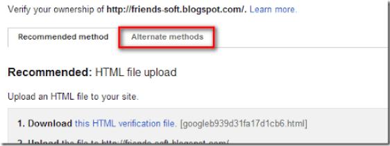 Alternative Method