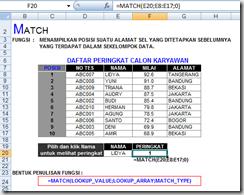 Fungsi Match ~ Info Excel Blog