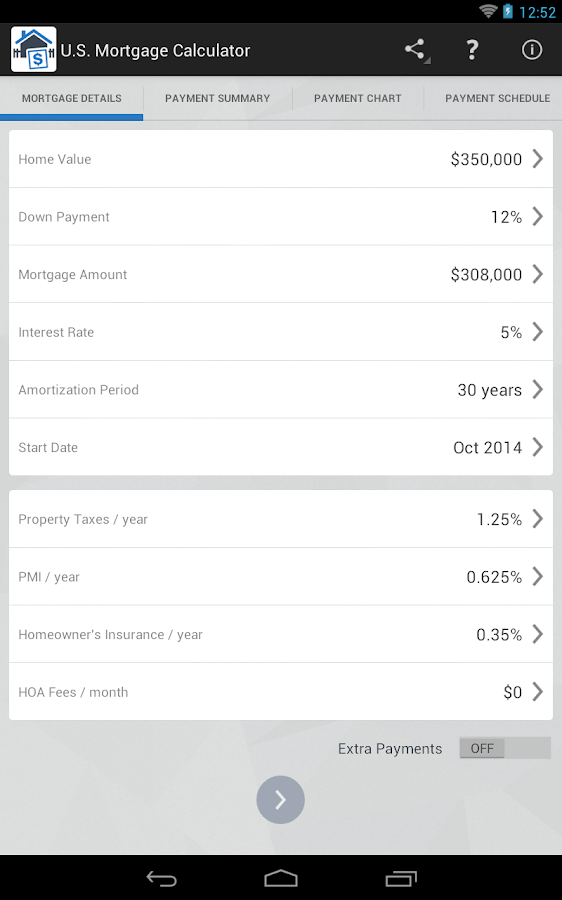 mortgage calculator with one time extra principal payment