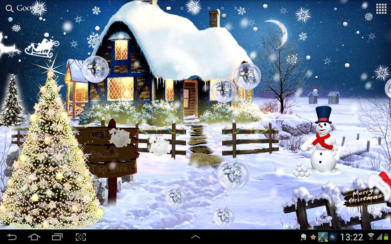 Snow Village 3d Live Wallpaper And Screensaver Christmas Live Wallpaper Hd Android Apps On Google Play
