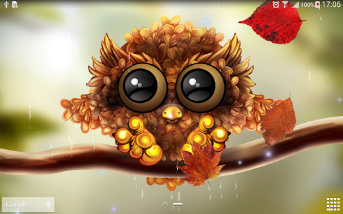 3d Falling Leaves Animated Wallpaper Free Download Autumn Little Owl Wallpaper Android Apps On Google Play