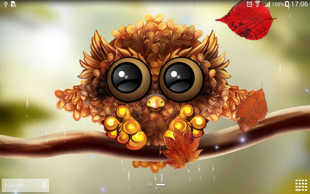 Falling Leaves Live Wallpaper Download Cute Fall Owls Wallpaper