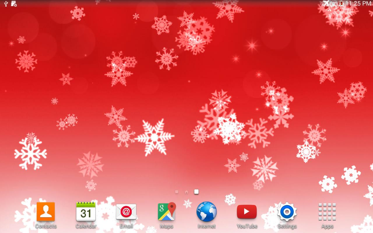 Falling Snow Wallpaper Note 3 Snowflake Xmas Live Wallpaper Android Apps On Google Play