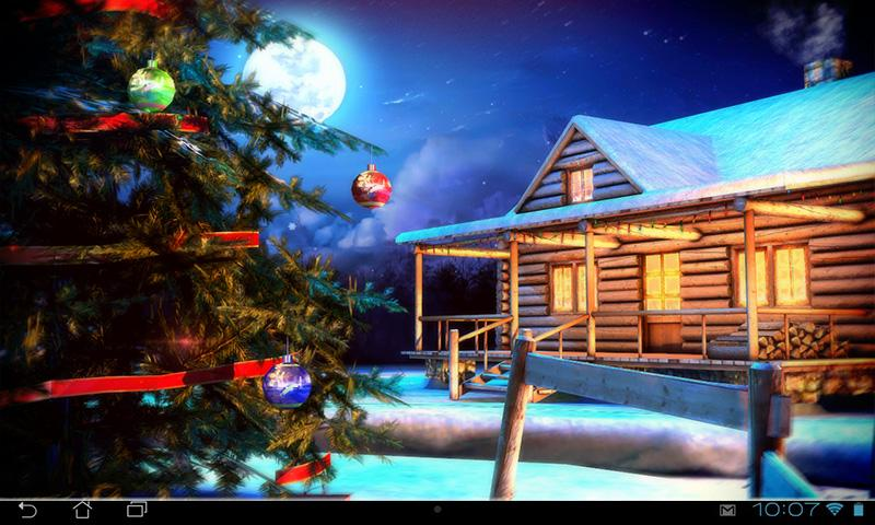 3d Snowy Cottage Animated Wallpaper Free Download Christmas 3d Live Wallpaper Android Apps On Google Play