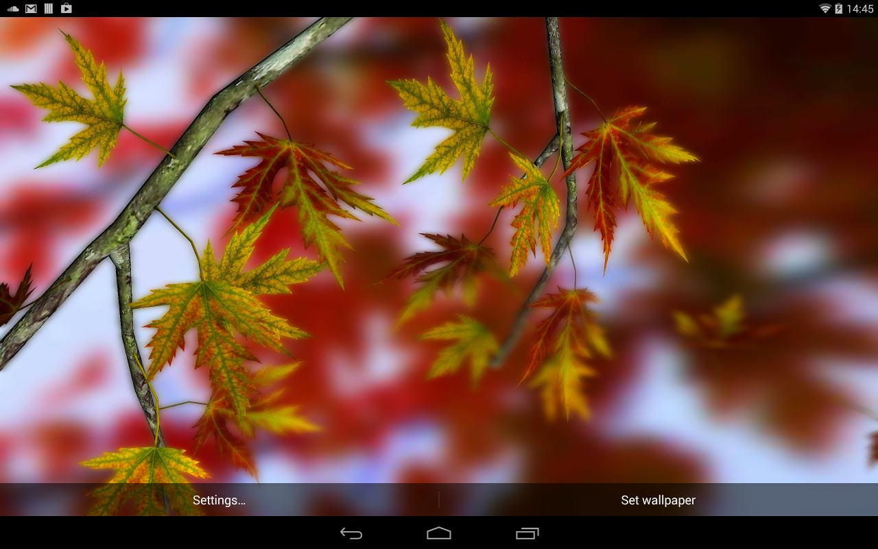 Parallax 3d Effect Wallpaper Pro Autumn Leaves In Hd Gyro 3d Xl Parallax Wallpaper