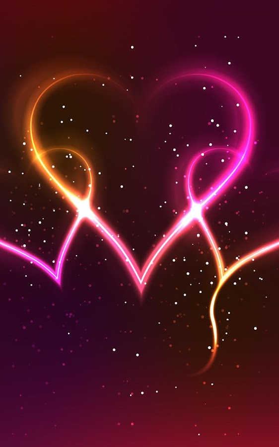 3d Rose Wallpaper Apps Neon Hearts Live Wallpaper Android Apps On Google Play