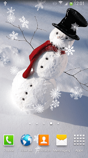 Christmas Falling Snow Wallpaper Note 3 Snowman Live Wallpaper Apps On Google Play