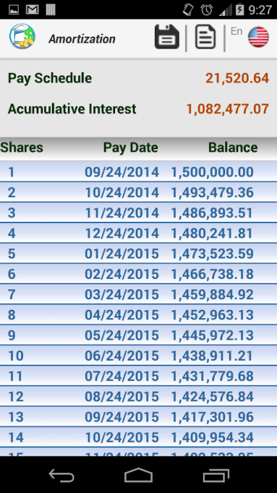 Loan Amortization - Android Apps on Google Play