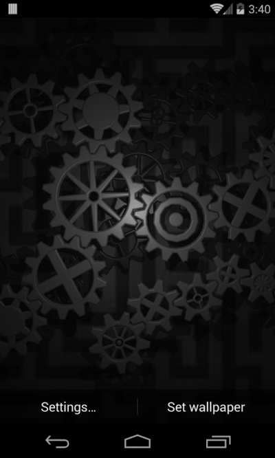 Gears 3D Live Wallpaper - Aplicaciones de Android en Google Play