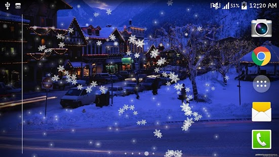 Falling Snow Desktop Wallpaper Snow Night City Live Wallpaper Android Apps On Google Play