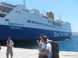 Arrival in Mykonos.JPG