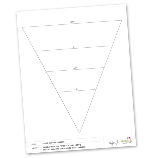 Click Here To Download Printable Template Bunting Flag Freeprintable