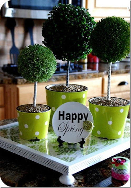 topiaries with washi tape