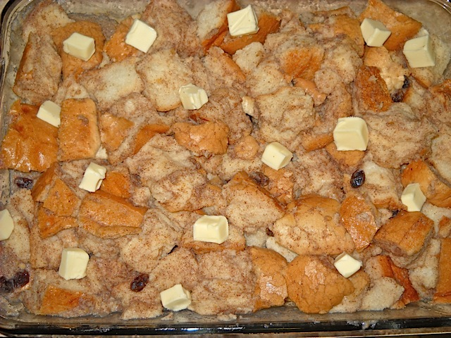 unbaked bread pudding