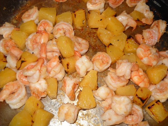 shrimp and pineapple