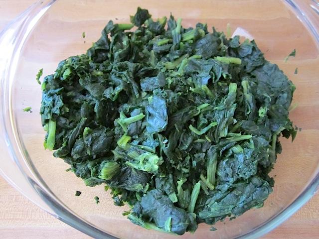 thawed spinach