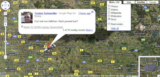 Google Maps: Buzz Layer